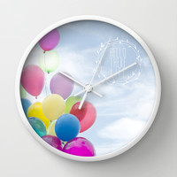 hello there life Wall Clock by Sylvia Cook Photography | Society6