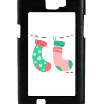 Cute Mrs and Mrs Christmas Couple Stockings Galaxy Note 2 Case  by TooLoud