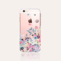 Winter iPhone 6s Case Clear Floral iPhone 6s Plus Case Winter Floral iPhone 6 Case Tough iPhone 6S Case Floral Samsung Galaxy S6 Case