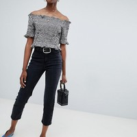 New Look Harlow Straight Leg Crop Jean at asos.com