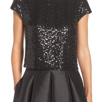 Eliza J Sequin Crop Top | Nordstrom