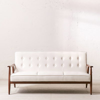 Wyatt Faux Leather Sofa | Urban Outfitters