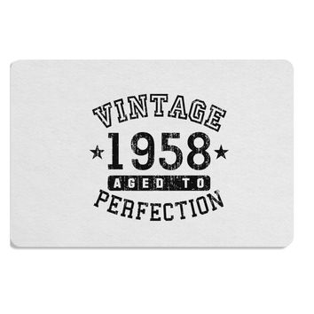 60th Birthday Vintage Birth Year 1958 Placemat by TooLoud