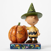 Jim Shore Peanuts Charlie Brown with Pumpkin-4045889
