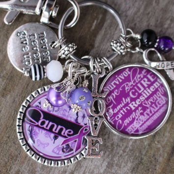 Personalized FIBROMYALGIA AWARENESS GIFT, Fibromyalgia Survivor Key Chain, Lupus Survivor Jewelry, Lupus Key Chain, Lupus Jewelry, Lupus