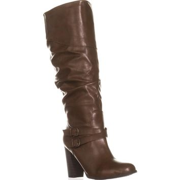 SC35 Sophiie Knee High Slouch Boots, Cognac, 11 US