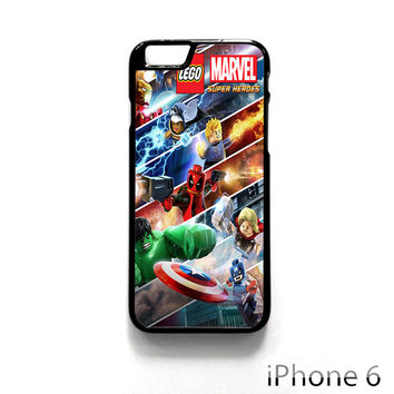 lego marvel superheroes poster. for Iphone 4/4S Iphone 5/5S/5C Iphone 6/6S/6S Plus/6 Plus Phone case