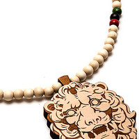 GoodWood Necklace The King Lion Pendant Necklace in Natural.