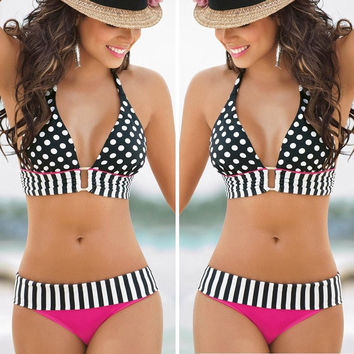 Sexy Womens Swimwear Bikini Set Bandeau Push-Up Bra Padded Swimsuit Beachwear = 5617191873