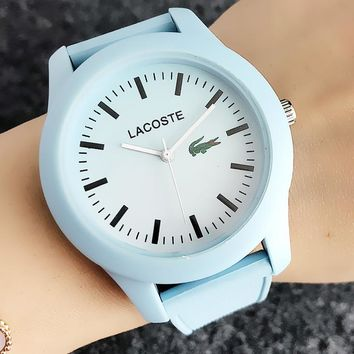 """Lacoste"" Newest Fashion Silicone Movement Watch Wristwatch"