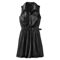 Mossimo® Women's Button Front Satin Dress w/Belt - Assorted Colors