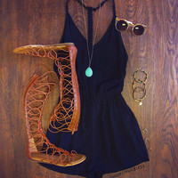 Spencer Romper - Black