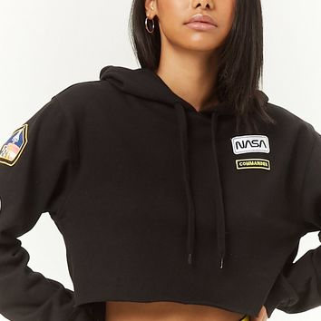 NASA Patch Cropped Hoodie