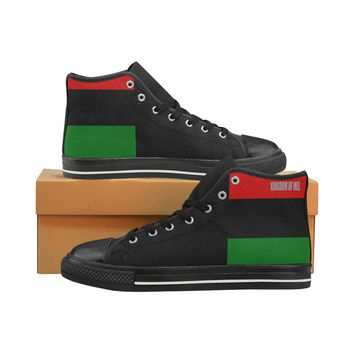 rbg flag High Top Canvas Shoes for Kid (Model 017)