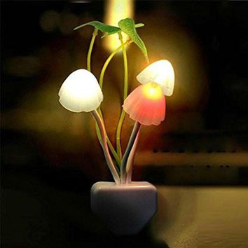 new colours romantic led mushroom dream night light bed lamp genial comfortable 2