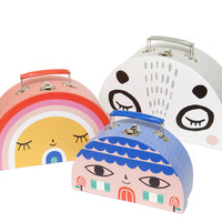 Trio of Kids Double-sided Toy Suitcases