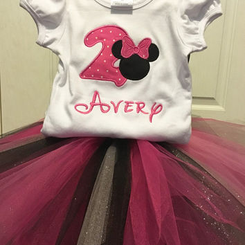 Minnie Mouse Birthday Outfit - Minnie Mouse Tutu Set