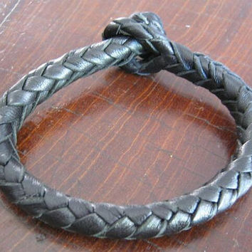 Braided bracelet 8 strands black