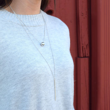 In the Moment Necklace - Silver