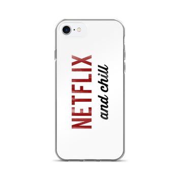 Netflix and Chill Vintage Typography iPhone 7/7 Plus Case