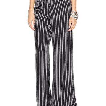 Lauren Ralph Lauren Petite Striped Wide-Leg Pants