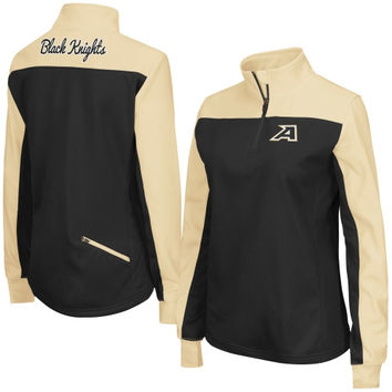 Women's Colosseum Black Army Black Knights Joust 1/4 Zip Jacket
