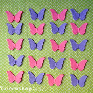 Fondant butterfly cake/cupcake toppers