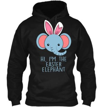 Cute and funny bunny elephant Easter bunny shirt. Pullover Hoodie 8 oz