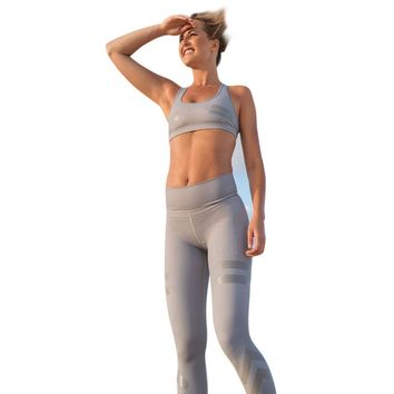 2 Colors High Waist Yoga Fitness Leggings Running Gym Stretch Sports Pants Trousers S-XL #E5
