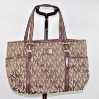 MICHAEL Michael Kors Bag Purse Brown MK Logo.