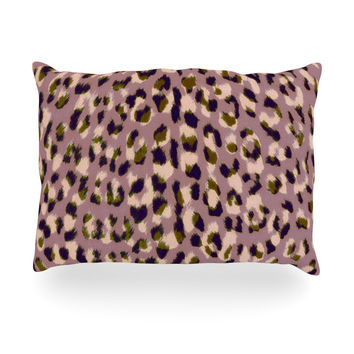 "Vasare Nar ""Leo Cheetah"" Animal Pattern Oblong Pillow"