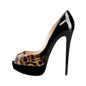 Peep Toe Low Cut Platform Super High Stiletto Heels Sandals