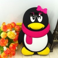 Lovely Penguin 3D Cartoon Soft Shell Color Case for Samsung Galaxy S3 i9300