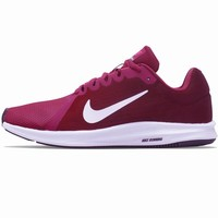 Nike Downshifter8 Women Running Sneakers White Soles B-CSXY Burgundy