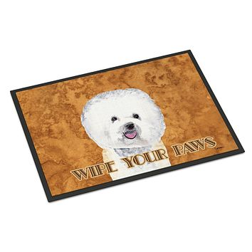 Bichon Frise Indoor or Outdoor Mat 18x27 Doormat
