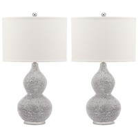 Safavieh Lighting 24-inch Nicole Bead Base Lamp (Set of 2) - Free Shipping Today - Overstock.com - 16702710 - Mobile
