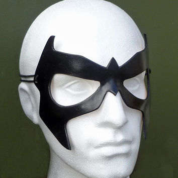 NIGHTWING Mask in Leather. Designed & Hand Crafted in Wales.