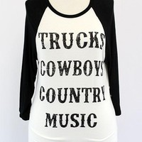 Trucks Cowboys Country Music