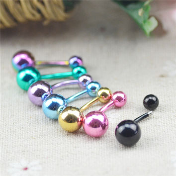 Sexy Body Piercing Jewelry Bar Barbell Navel & Belly Button Ring Fashion Simple Belly Piercing Body Jewelry For Women 2015