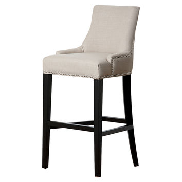 Agoura Linen Barstool, Off-White, Bar & Counter Stools