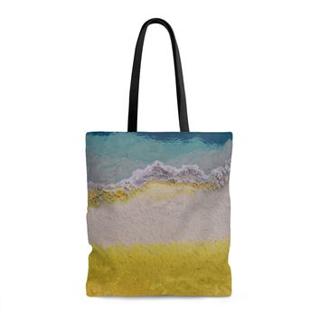 Abstract Texture Shopping Tote with Liner - 3 Sizes