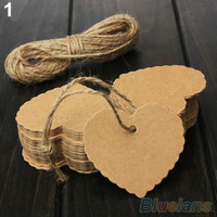 Vintage Blank Brown Kraft Paper Hang Tags Wedding Favor Label Gift Cards 100 = 1933032068