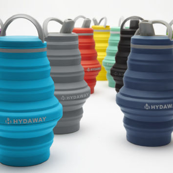 HYDAWAY. The world's most collapsible water bottle