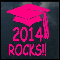 Graduation Day Class Of 2014 Rocks Decal Sticker Car Tattoo 8 Inch