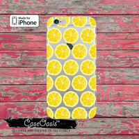 Lemon Slice Pattern Fruit Summer Fun Cute Clear Rubber Phone Case For iPhone 6 and iPhone 6 Plus + Transparent Crystal Custom Case
