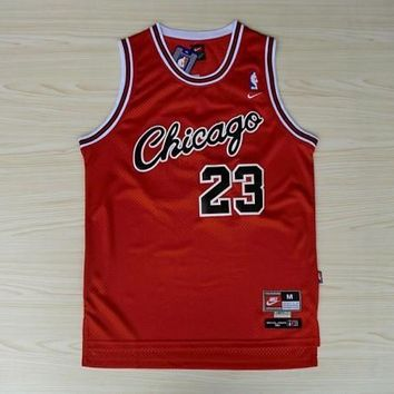 VTG Jordan Chicago Bulls  23 Nike Sewn NBA Basketball Jersey Red 3870b316ad