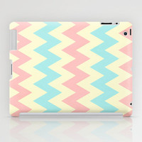 Summer Pink & Blue Chevron iPad Case by secretgardenphotography [Nicola]