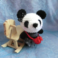 Crochet Amigurumi Panda Animal, Kids Toy, Stuffed Plush Toy Panda, Easter Basket, Gift Ideas/ Ready to Ship