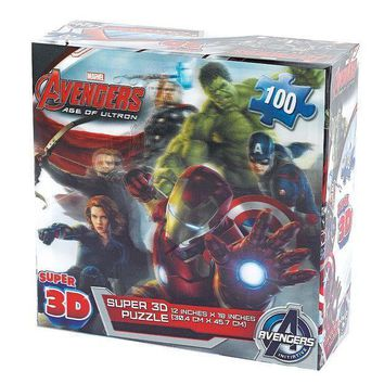 Marvel Avengers: Age Of Ultron 100 Pc. Super 3d Puzzle By Cardinal