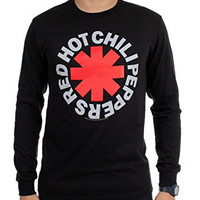 Red Hot Chili Peppers - Mens Asterisk Long Sleeve Shirt, Large, Black